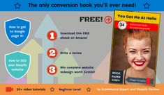 "Get this ebook on Amazon and win FREE website redesign!  My new ebook ""You Got Me At Hello"" is FREE on Amazon for 5 days only – offer ends Friday!  This is part of Amazon standard promotion for new Kindle ebooks. You can get this ebook absolutely FREE right now.  On top of that, if you download this ebook and write a review on Amazon, you'll automatically get a chance to WIN a complete website redesign by Rock Paper Copy! I Got You, Free Website, Ecommerce, Kindle, Promotion, Ebooks, Friday, Writing, Rock"