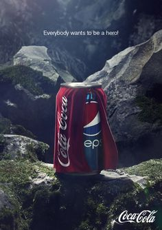 """Pepsi is not one of my favourites.I am definitely a """"Coke"""" person so this is scary. In Its Halloween Ad, Pepsi Dresses Up As Coca-Cola Creative Advertising, Ads Creative, Print Advertising, Advertising Campaign, Advertising Ideas, Pepsi Advertisement, Advertisement Examples, Funny Advertising, Funny Ads"""