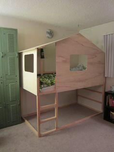 ikea kura bed hack | IKEA Hack: Kura Bed into Modern Cabin | Vintery, Mintery