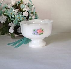 Vintage Milk Glass Avon Candy dish, White candy dish, 1970s, nut dish by streetcrossing on Etsy