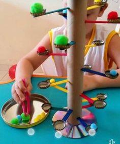 # fine motor home activities DIY game - fine motor practice Motor Skills Activities, Toddler Learning Activities, Montessori Activities, Infant Activities, Fun Activities, Kids Learning, Fine Motor Skills, Creative Activities For Kids, Fun Games For Kids