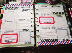Filofax/Planner decorated pages // Craft Room Secrets