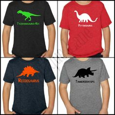 Personalized Kids Dinosaur Shirt by BoutiqueLane on Etsy, $14.00