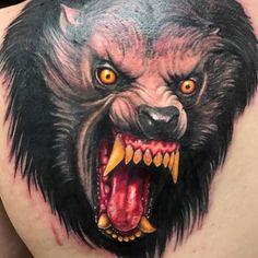WEBSTA @ eikondevice - First Werewolf on the countdown! broke out this killer American Werewolf in London piece Red Bird Tattoos, Wolf Tattoos, Hand Tattoos, Tatoos, Queen Bee Tattoo, Meditation Tattoo, Trevor Philips, Tattoo Design For Hand, American Werewolf In London