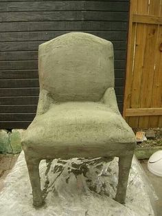 Cement covered chair