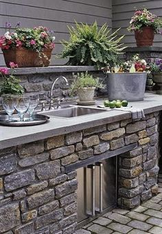 Outdoor Kitchen…Remodeling from the outside:  http://www.whatswiththedrama.com/2014/03/our-house-remodeling.html