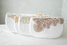 CUSTOM MADE Linen and Lace by HelloVioleta, $19.00. I think these are just beautiful.