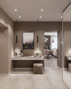 Hall de entrada - New Ideas Living Room Decor Country, Home Living Room, Feng Shui, Modern Interior, Interior Design, Feminine Bedroom, Room Wallpaper, Decoration Design, Home And Deco