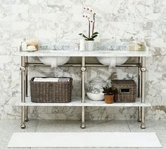 Apothecary double sink vanity pinterest french grey gray and walls for Apothecary style bathroom vanity