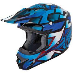 2014 Fly Racing Kinetic Block Out Helmet - Blue Black