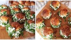Peynirli Saçak Poğaça (Sakallı Poğaça) Homemade Beauty Products, Kefir, Tiramisu, Sushi, Cake Recipes, Muffin, Health Fitness, Chicken, Breakfast