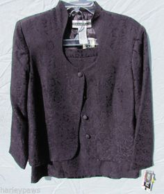 NWT Purple/Plum Dana Kay skirt suit. Size 14