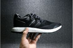 f3798cfd48819 Remise Femme Adidas Y- Pur Boost Noir Blanc By Chaussures De Course