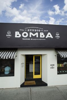 Studio Bomba Makeover - signwriting by Marcus Taylor of Studio Papa