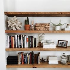 Best floating shelf awesomeness images on regarding shelves decorating white kitchen tool rental with home office Up House, House Rooms, Home Living, Living Spaces, Piece A Vivre, Interior Decorating, Interior Design, Interior Exterior, Floating Shelves