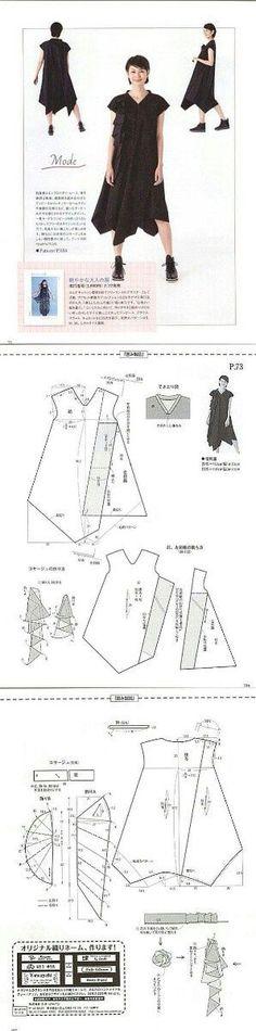 특이한 드레스 (패턴) / 간단한 패턴 / SECOND STREET