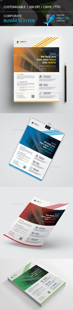 Corporate Flyer by Galax-e Flyer Printing, Text Fonts, Business Flyer Templates, Corporate Flyer, Abstract Photos, Print Templates, Print Design, Design Ideas, Icons