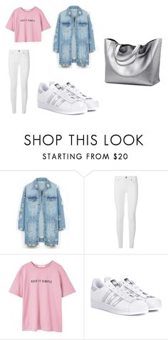 """""""days"""" by juliadb on Polyvore featuring LE3NO, Burberry, MANGO and adidas Originals"""