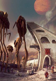 Ald'ruhn. Silt strider port by Lelek1980 - Morrowind