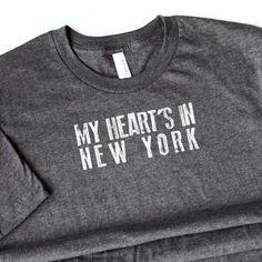 WOMENS My Heart's in California Tshirt  NY Tee  nyu by opalandharv
