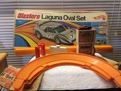 VTG ORIG 1970 Sizzlers Hot Wheels LAGUNA OVAL SET #Mattel #Ford