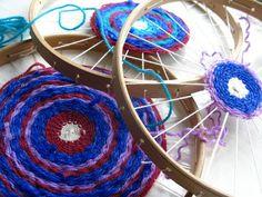 circular weaving for children