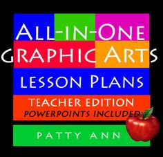 This book is jam packed with easy, fun lessons for both the student and the teacher. Learn about thumbnails, project plans, careers in graphics arts, mockups, designing business cards, using white space, creating logos, and too many more activity packed pertinent lessons.   This Teachers Edition comes with extensive teaching aids; curricula outlines, ready made rubrics for grading; PLUS 4 extensive Power Points are included in this package. $ave $5 on this Book Bundle!