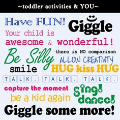Toddler Fun.  Toddler activities, games, crafts etc