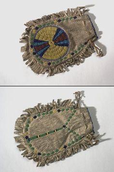 Cheyenne or Arapaho beaded pouch