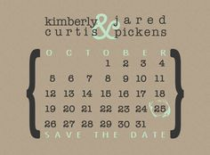 Simply Save the Date Printable/Postcard/Magnet  by KPickensDesigns, $15.00