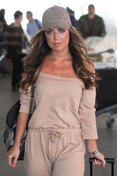 ABI CLARKE at Heathrow Airport in London  ABI CLARKE actress