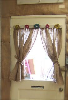 Old Barn Rescue Company - no-sew burlap curtains