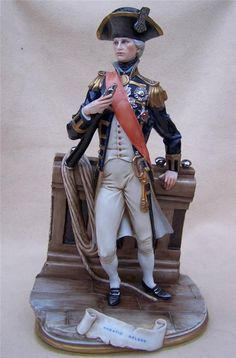 "Immaculate Capodimonte "" Merli "" Lord Admiral Nelson Figure | eBay"
