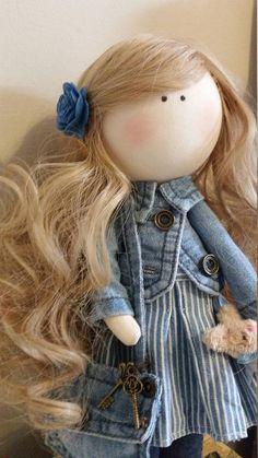Textile doll Handmade doll Fabric doll Tilda doll Rag doll