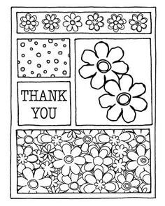 Thank Flower Card Front