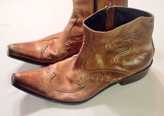 Aldo Dragon Slick Leather Boots Mens Size 44 US by VintyThreads, $57.11