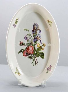 "Villeroy & Boch Oval Roast Dish Lugano 13"" Baker Ovenware Floral Flowers NIB 22"