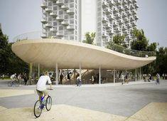 NL Architects, Bike Pavilion, Velodrome, urban design, China, Hainan Province, VANKE, Netherlands, cycling, green design, sustainable design, eco-design, bicycles, shade, tropics, China