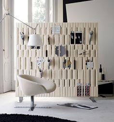 Trennwand-Design Raumteiler-Zeitungen hindurch stecken-Dekoideen