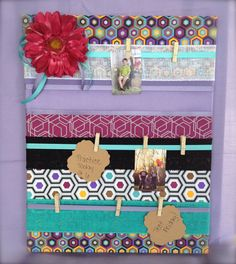 Handmade / Message Board / Reminder Board / Photo Board / Wall Organizer /  Wall Decor / Girls Room / Clothes Pin Board / Dorm Room