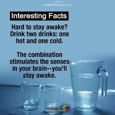 Hard to stay awake? The combination stimulates the senses in your brain--you'll stay awake. Amazing Life Hacks, Simple Life Hacks, The More You Know, Good To Know, Staying Awake Tips, Sleeping Facts, Survival Life Hacks, Survival Mode, School Study Tips