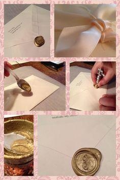Wedding invitations with wax seal :)