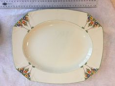 This beautiful Alfred Meakin plate is 36cm long, 30cm wide and sits 3cm high on the table. | eBay!