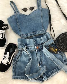 Teen Fashion Outfits, Cute Fashion, Outfits For Teens, Girl Outfits, Womens Fashion, Cute Casual Outfits, Cute Summer Outfits, Stylish Outfits, Tumblr Outfits