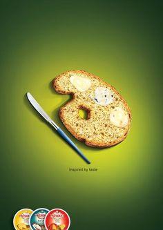 Creative Ads - Cheese Art #printmarketing