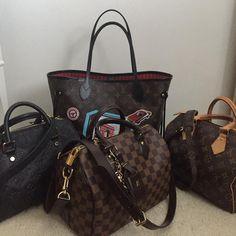 Louis Vuitton Damier Handbags. Vintage Neverfukll and Speedy Bag