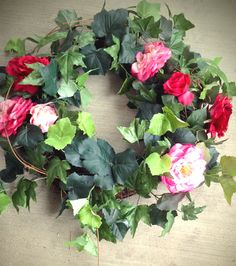 Lush rose wreath...