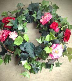 Lush rose wreath...