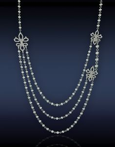 Triple Layer Diamond Necklace