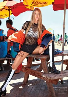 Martha Hunt Models Sporty Glam Style in ELLE China